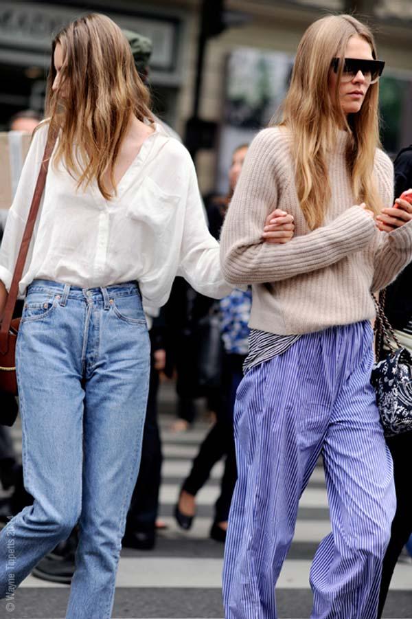 Caroline Brasch Nielsen, Tilda Lindstam, models Off Duty, Paris